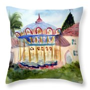Carosel At Old School Square Throw Pillow