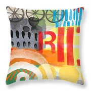 Carousel #6 Ride- Contemporary Abstract Art Throw Pillow
