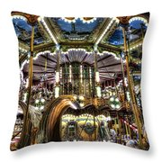 Carousel At Hotel Deville Throw Pillow