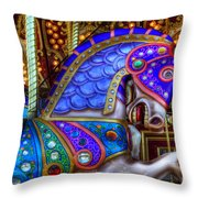 Carousel Beauty Prancing Throw Pillow