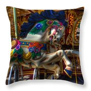 Carousel Beauty Ready To Roll Throw Pillow