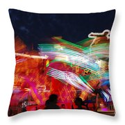 Carousel By Night Throw Pillow
