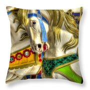 Carousel Charger Throw Pillow
