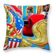 Carousel Chariot Throw Pillow