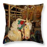 Balboa Park Carousel Throw Pillow