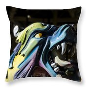 Carousel Dragon Throw Pillow