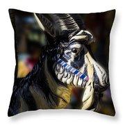 Carousel Goat Throw Pillow