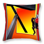 Carousel Horse Fireman 03 Throw Pillow