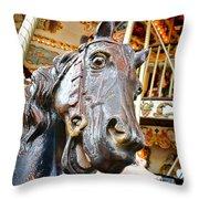 Carousel Horse Head Throw Pillow