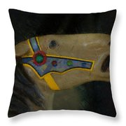 Carousel Horse Painterly 2 Throw Pillow