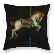 Carousel Horse Painterly Throw Pillow
