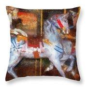 Carousel Horse Photo Art 02 Throw Pillow