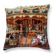 Carousel In Avignon Throw Pillow