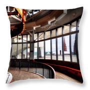 Carousel Over Albany Throw Pillow