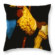 Carousel Rooster Throw Pillow