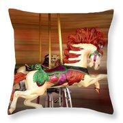 Carousel Rush Throw Pillow