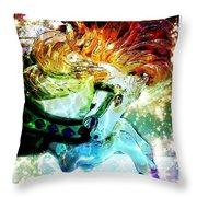 Carousel Sparkle Throw Pillow