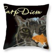 Carp Diem Throw Pillow
