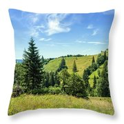 Carpathians Landscape Throw Pillow