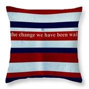 Carpe Diem Series - Barack Obama Throw Pillow