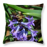 Carpenter On Hyacinth Throw Pillow
