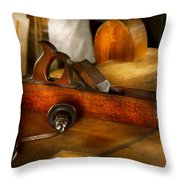 Carpenter - The Humble Shop Plane Throw Pillow