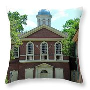 Carpenters Hall In Philadephia Throw Pillow