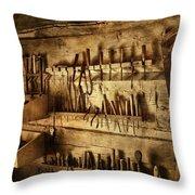 Carpenter's Workroom Throw Pillow