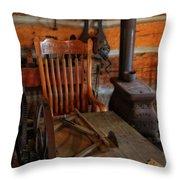 Carpentry Workshop Throw Pillow