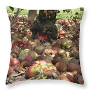 Carpet Of Apples Throw Pillow