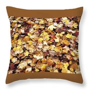 Carpet Of Leafs Throw Pillow