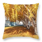 Carpet Of Yellow Leaves Throw Pillow