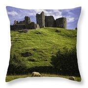Carreg Cennan Castle Throw Pillow