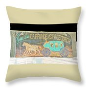 Carriage And Stagecoach Color Invert Throw Pillow