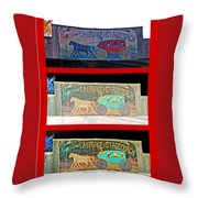 Carriage And Stagecoach Three-in-one Throw Pillow
