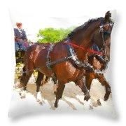Carriage Artistic Throw Pillow