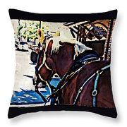 Carriage Horse Throw Pillow