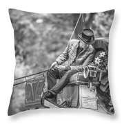Carriage Ride Nyc  Throw Pillow