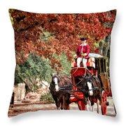 Carriage Ride Throw Pillow