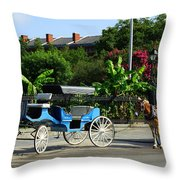 Carriage Tours New Orleans Throw Pillow