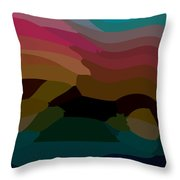 Carribbean Dusk Throw Pillow