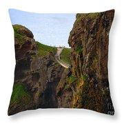 Carrick-a-rede Bridge IIi Throw Pillow