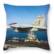 Carrier Below Throw Pillow