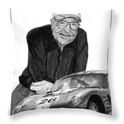 Carroll Shelby    Rest In Peace Throw Pillow