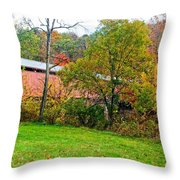 Carrollton Covered Bridge 2 Throw Pillow