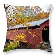 Carrollton Covered Bridge Throw Pillow