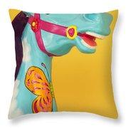 Carrosel Horse Throw Pillow