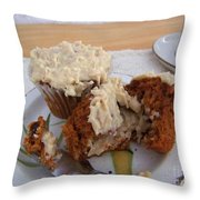 Carrot Muffins Throw Pillow