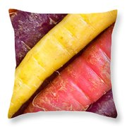 Carrot Rainbow Throw Pillow