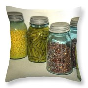 Carrots Vintage Kitchen Glass Jar Canning Throw Pillow